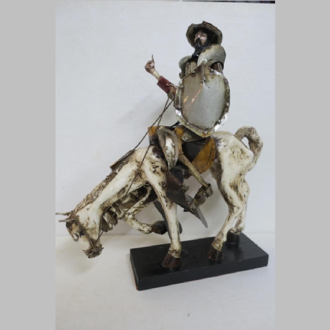 Paper Mache Don Quixote on Rocinante: