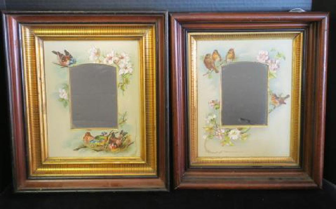 2 Victorian Aesthetic Movement Walnut Shadowbox