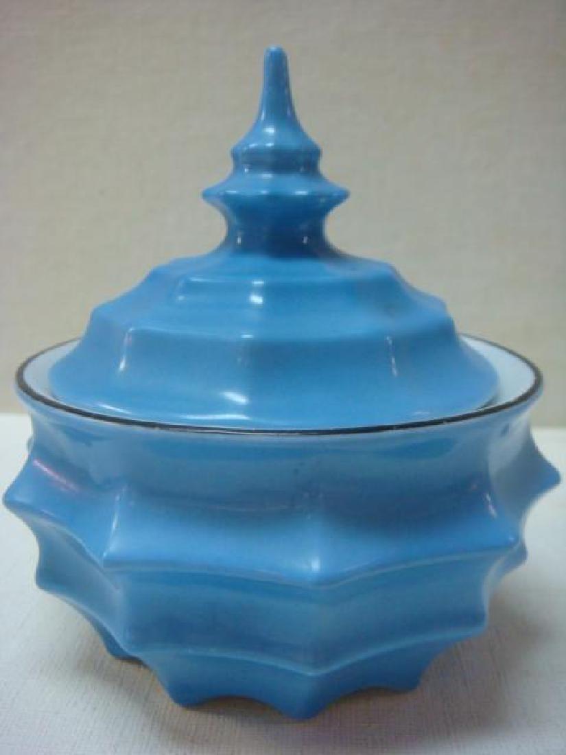 Art Deco Bavaria Ceramic Perfumes and Jar: - 2