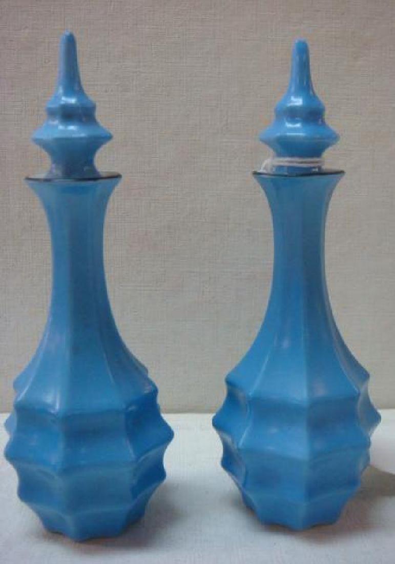 Art Deco Bavaria Ceramic Perfumes and Jar: - 4
