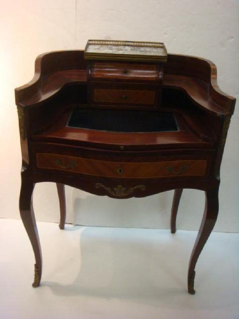 French Parquetry Louis XVI Style Ladies Desk: