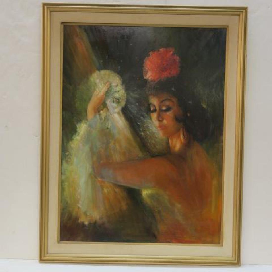 SYLVIA BAKER, Oil on Canvas, SPANISH FLAMENCO DANCER: