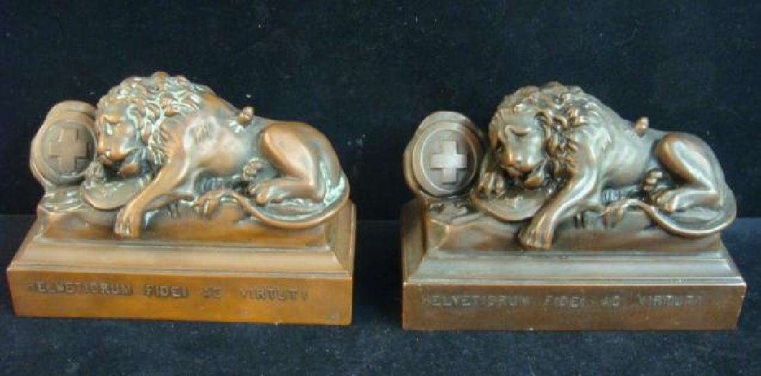 Bronze Bookends, THE LIONS OF LUCERNE