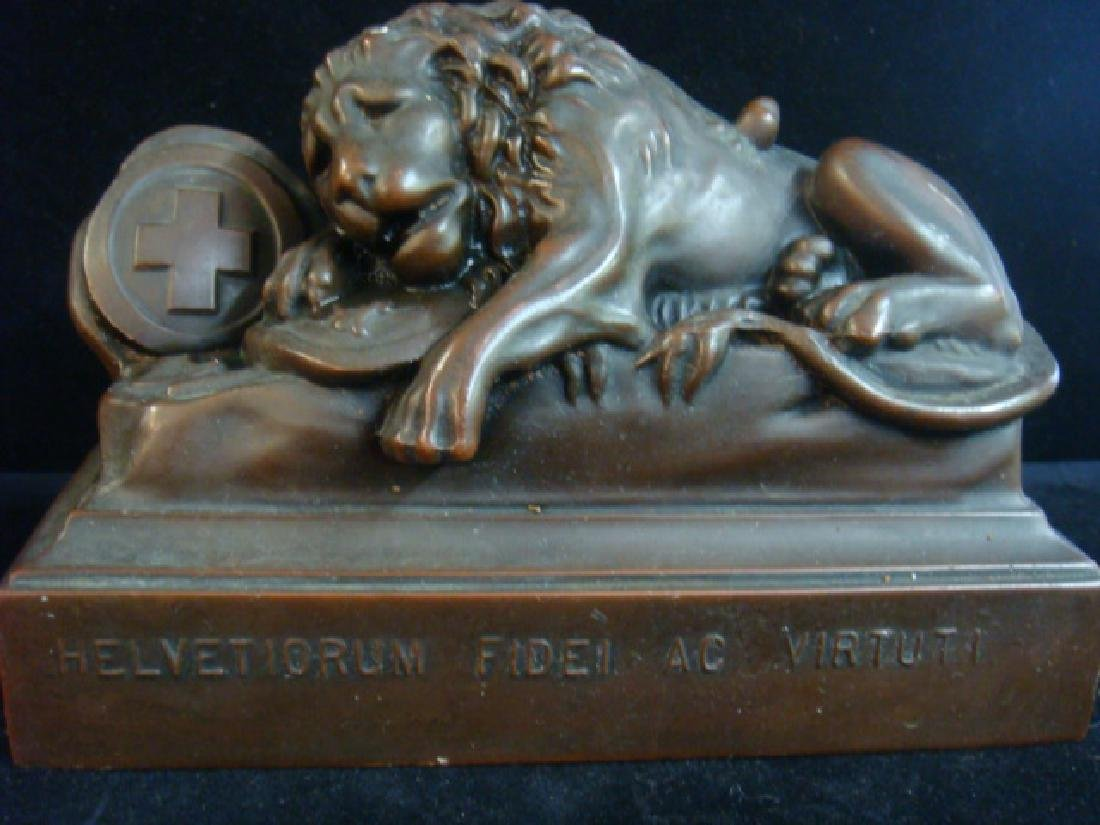 Bronze Bookends, THE LIONS OF LUCERNE - 3
