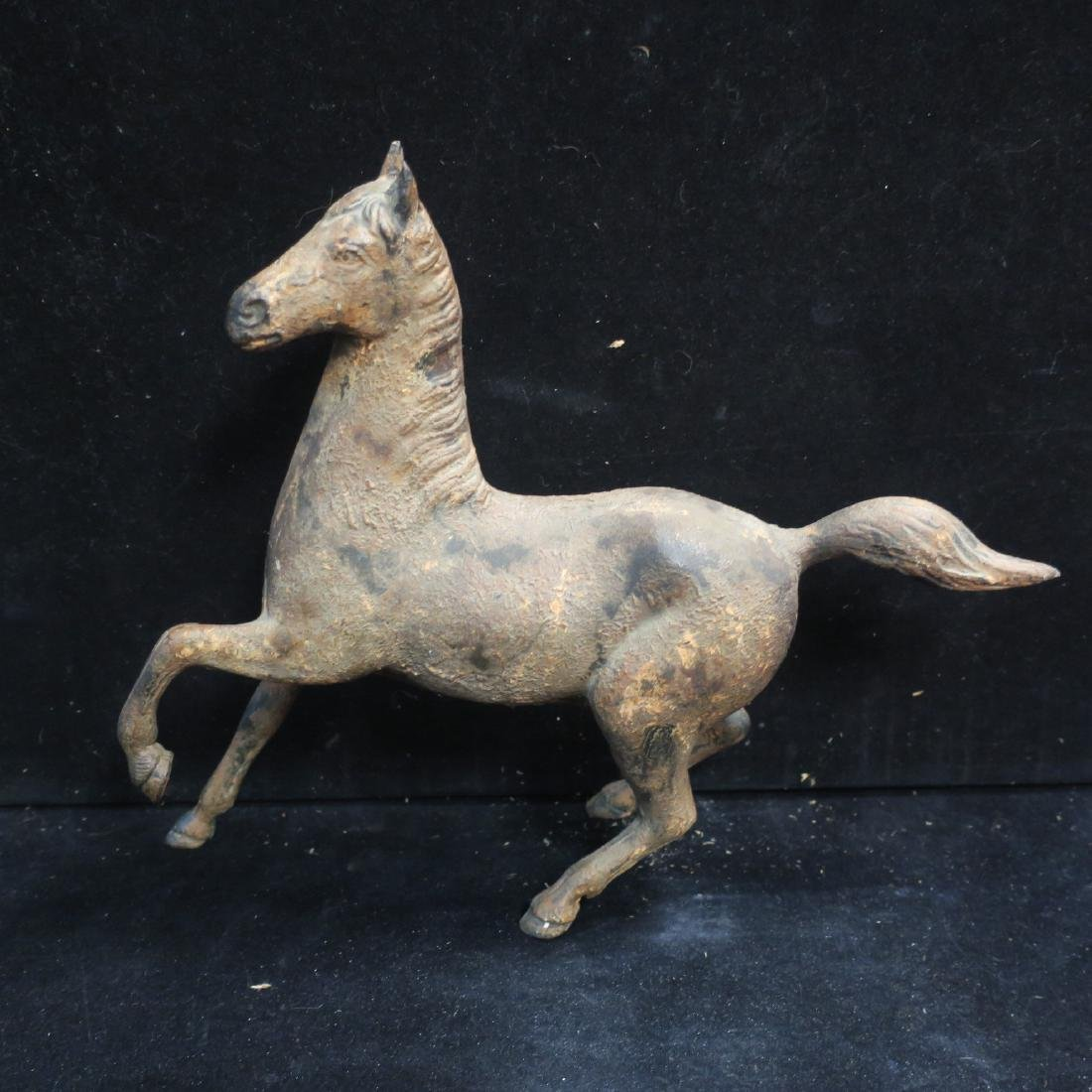 Cast Iron Horse Marked Japan: