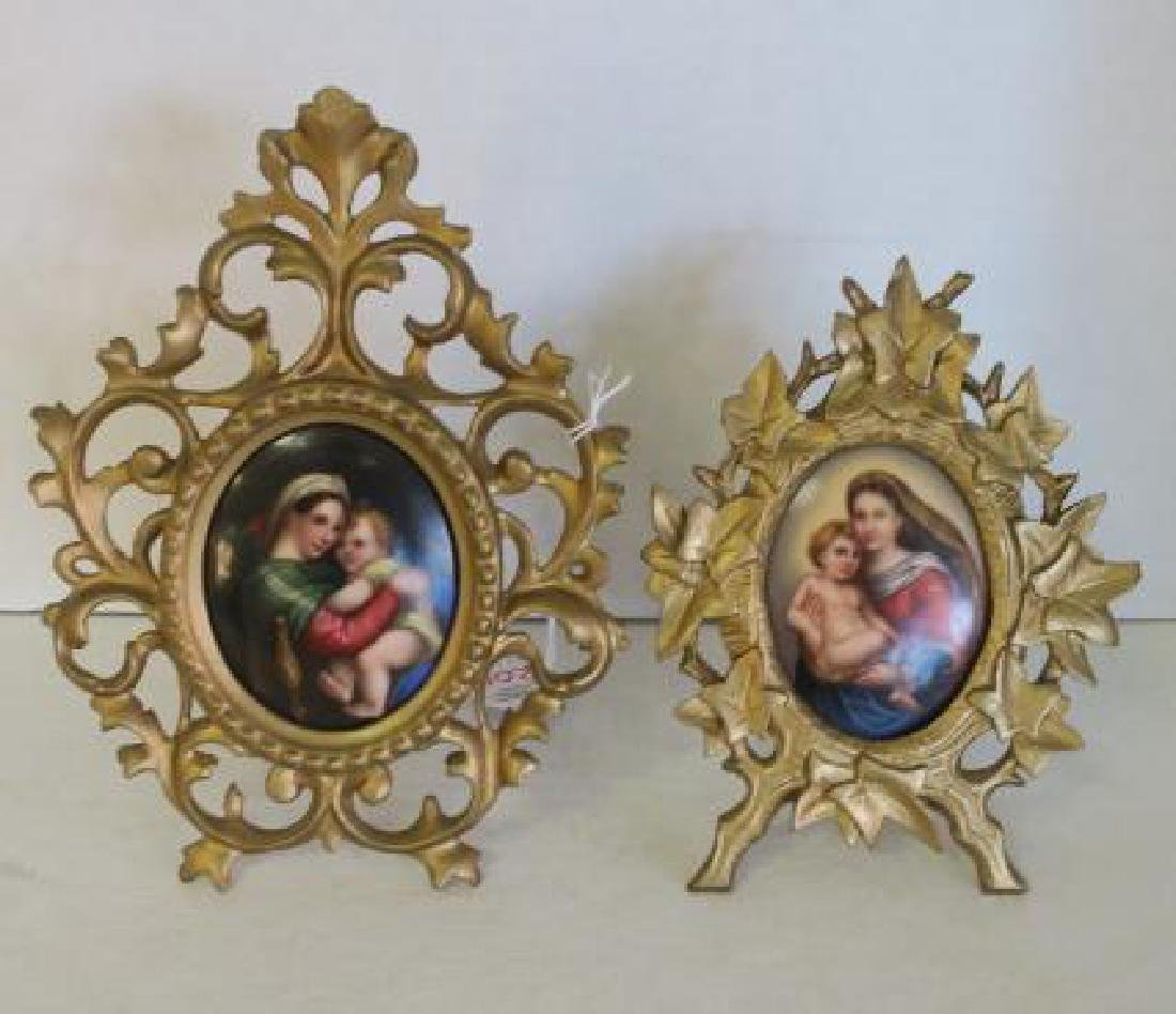 Two Hand painted Porcelain Plaques after Raphael: