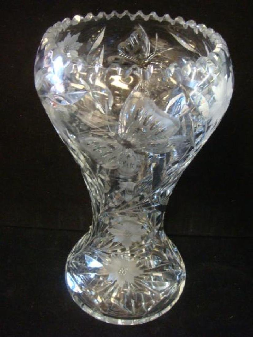 PAIRPOINT American Brilliant Cut Glass Crystal Vase: