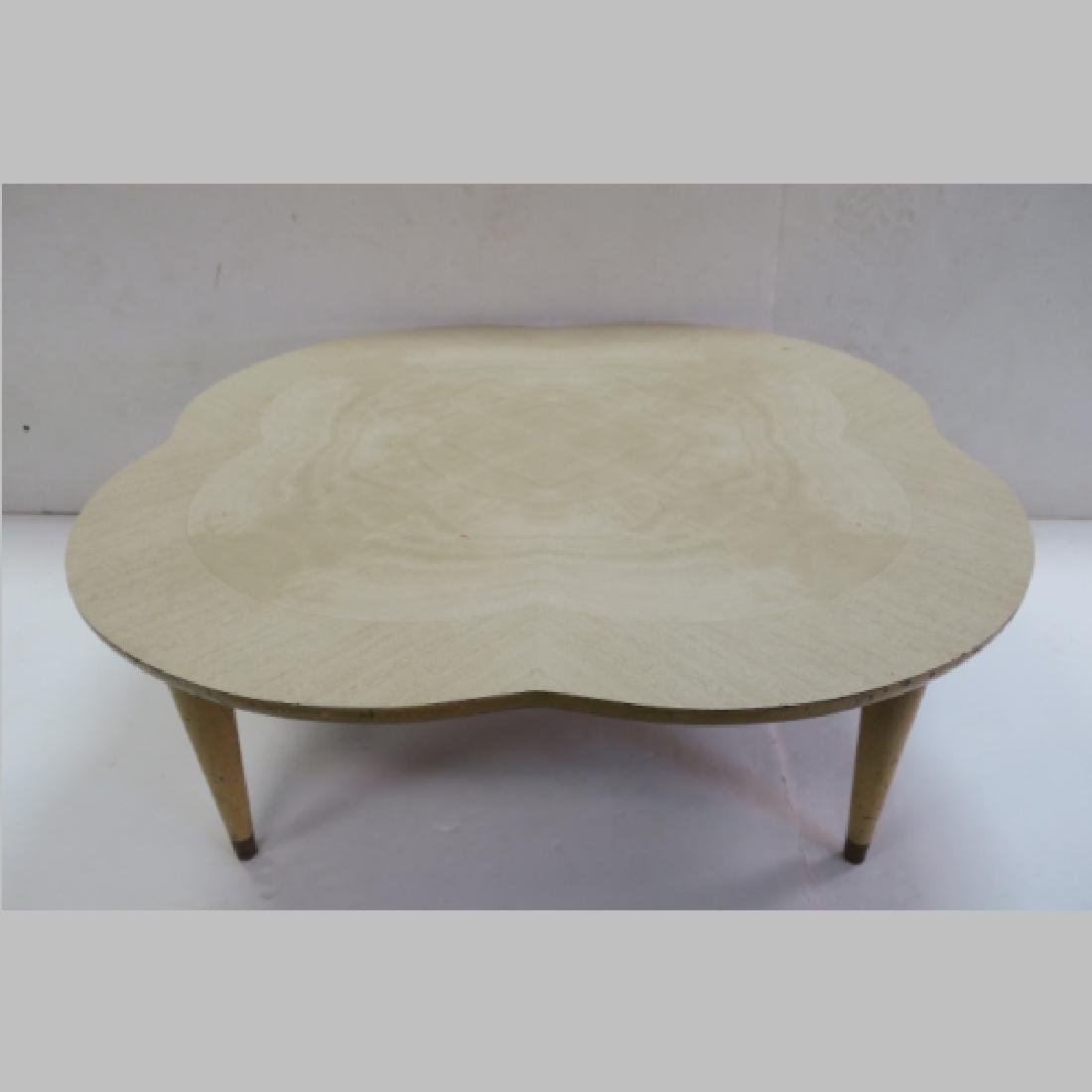 Mid Century Formica Top Coffee Table: