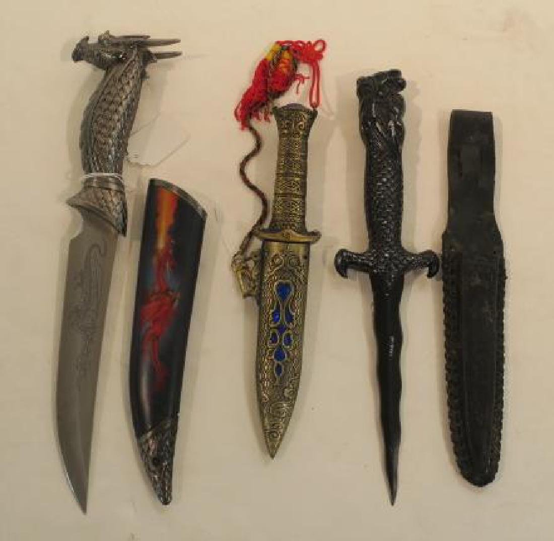 Red, Black and Blue Dragon Daggers: