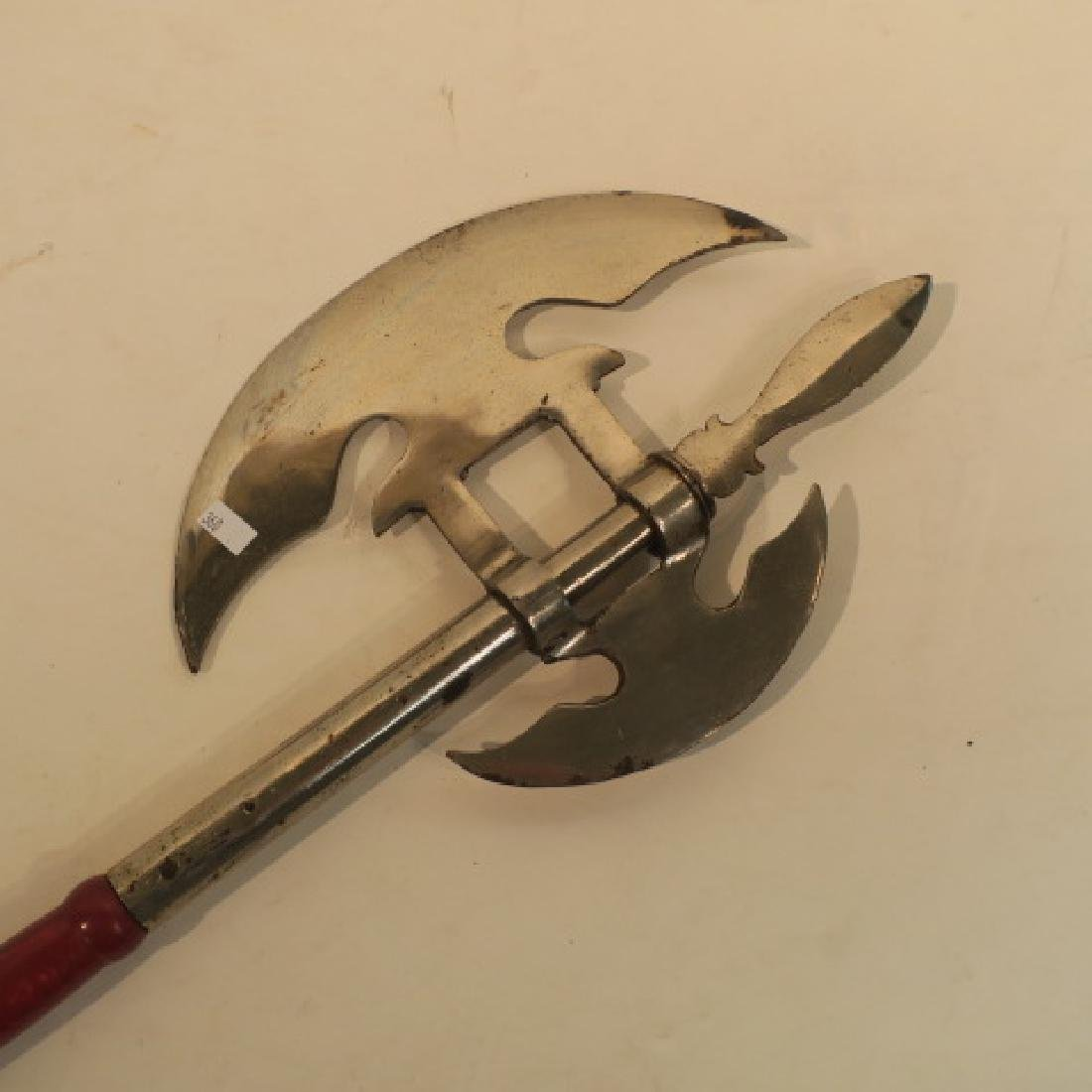 Battle Axe with Halberd Style Axe Head: - 2