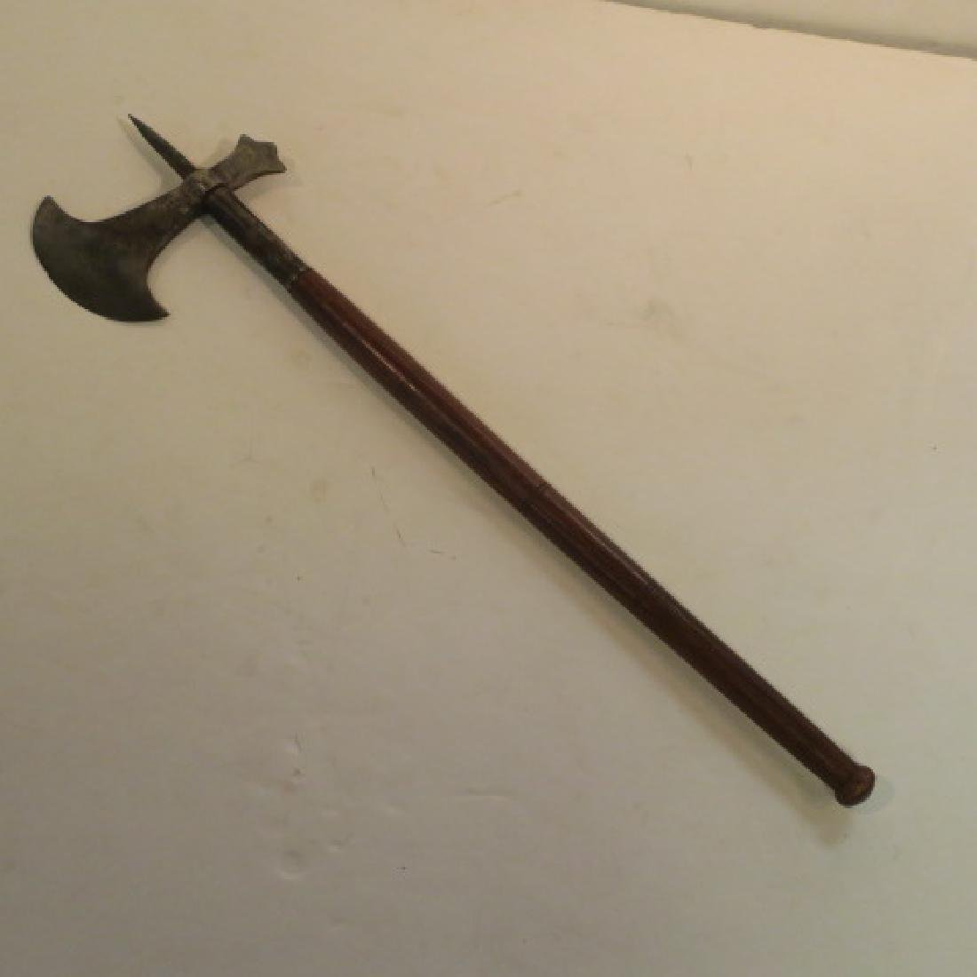 Classic Style Battle Axe with Pick and Skull Crusher: