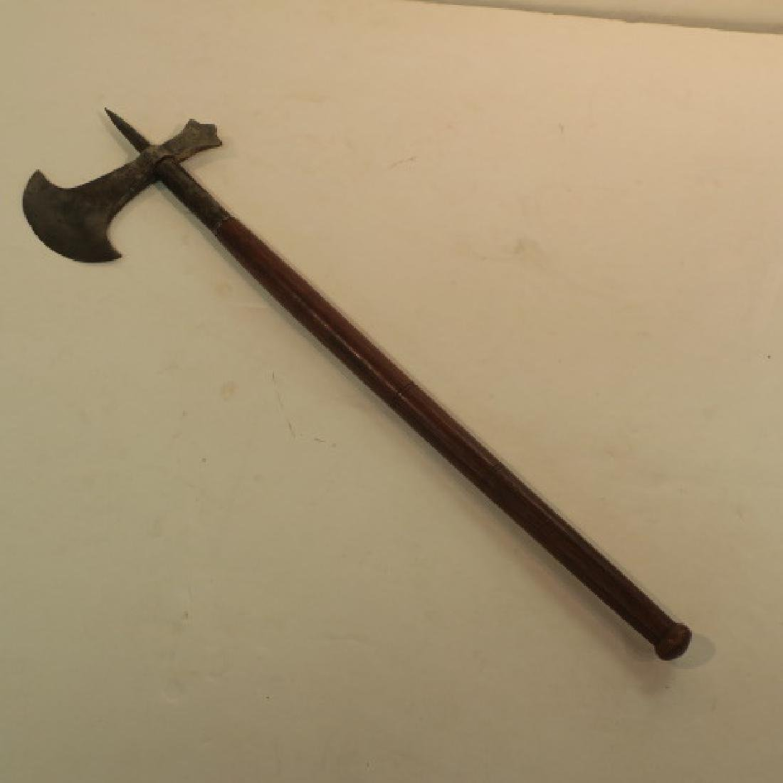 Classic Style Battle Axe with Pick and Skull Crusher: - 3