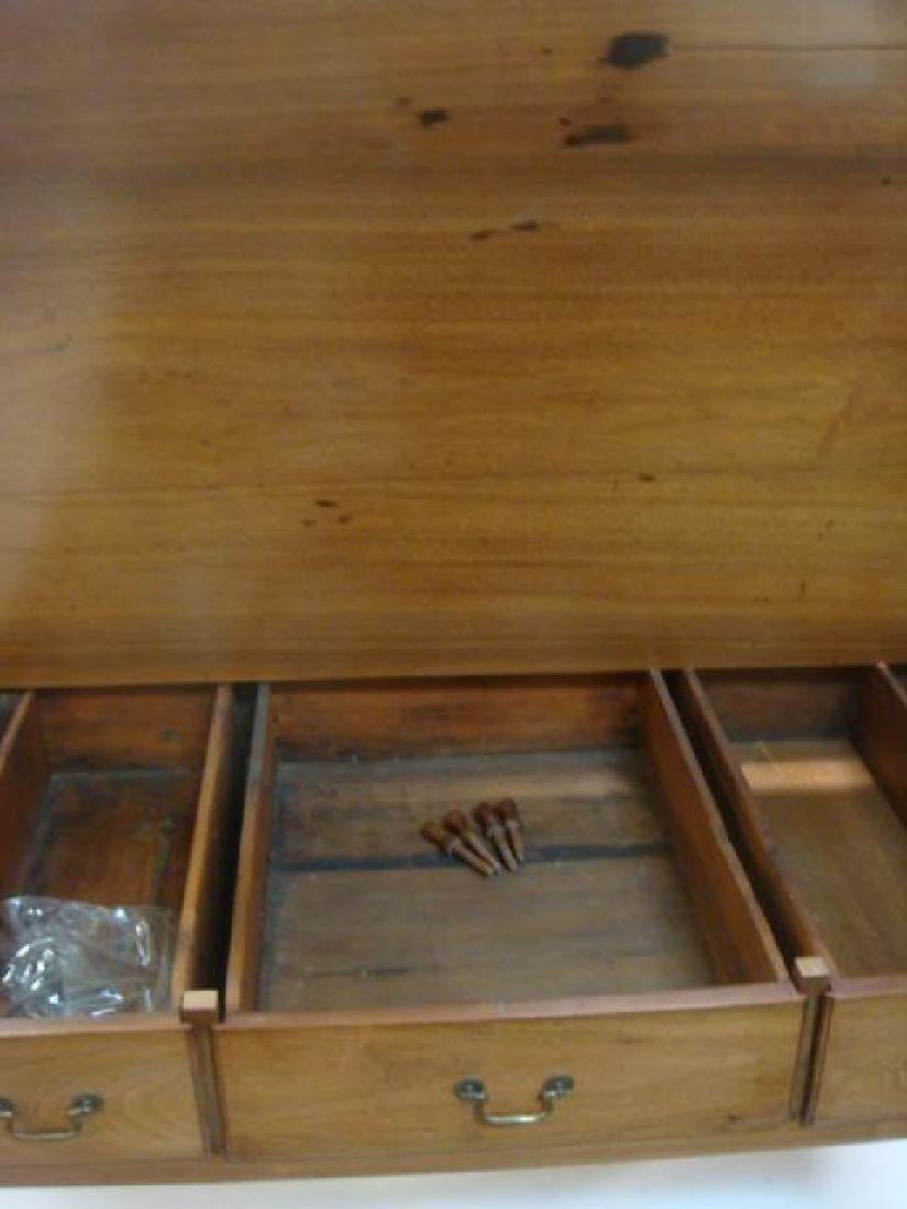 Home Office Three Drawer Writing Desk: - 6