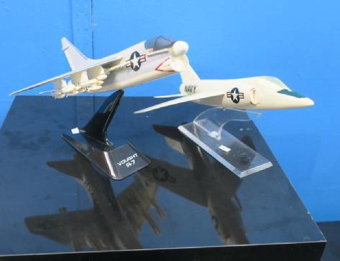 Models of A7 CORSAIR II & F9 COUGAR w/Stands: