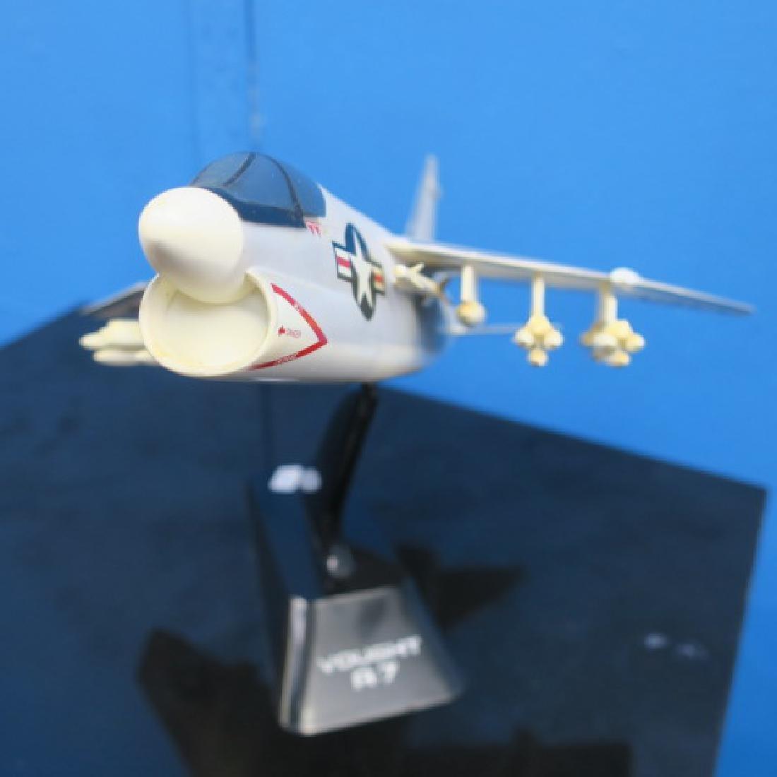 Models of A7 CORSAIR II & F9 COUGAR w/Stands: - 2