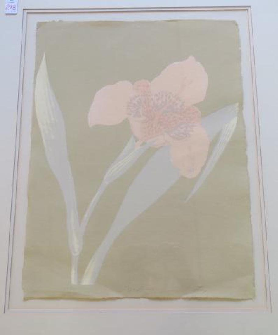 Artist Signed Tiger Lily Print on Paper: