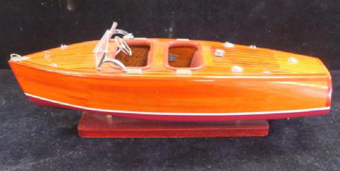 Wooden Model of 1920's Chris-Craft Runabout: