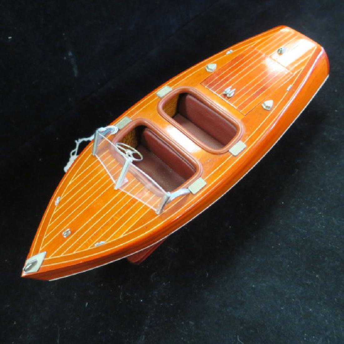 Wooden Model of 1920's Chris-Craft Runabout: - 2