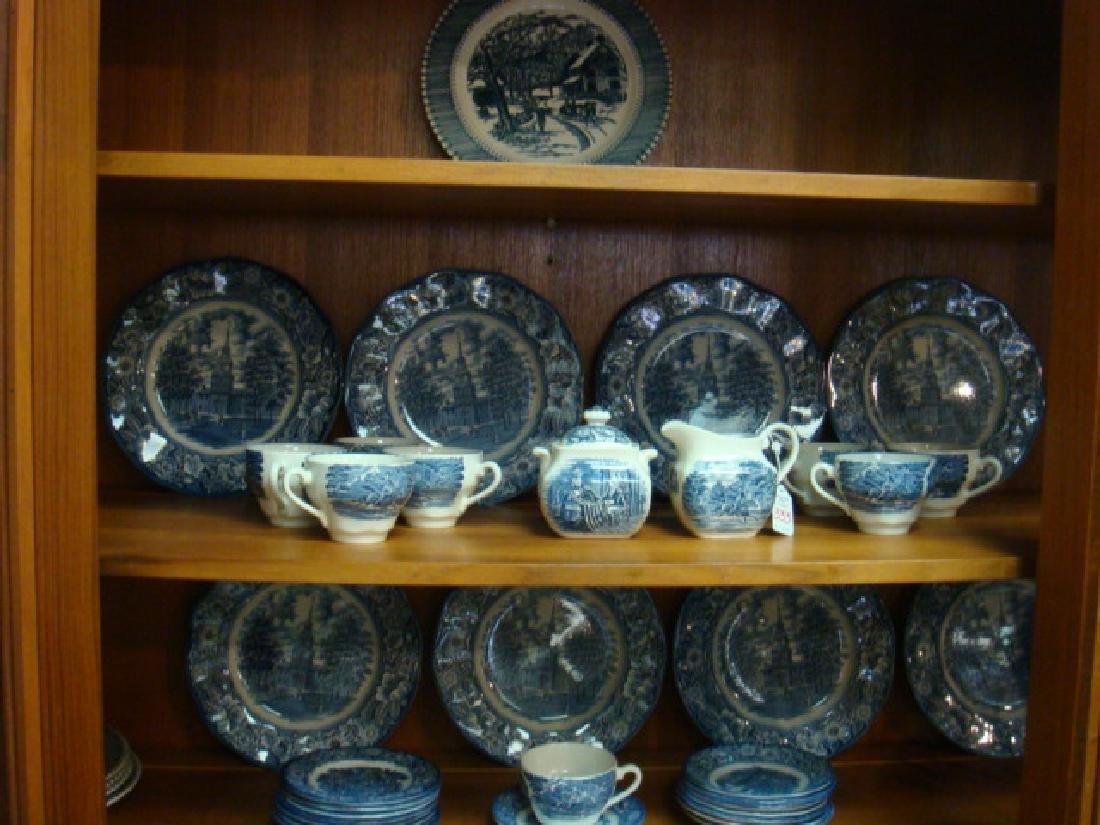Liberty Blue English Ironstone Dinnerware: