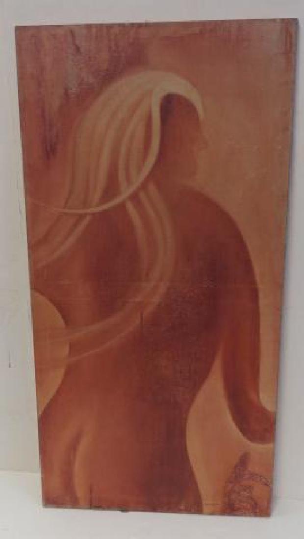 ED CARSON, Female Nude Acrylic on Canvas: