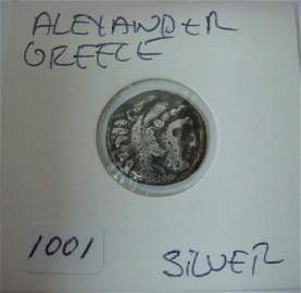 Ancient Greek Coin, ALEXANDER THE GREAT, 336-323 BC: