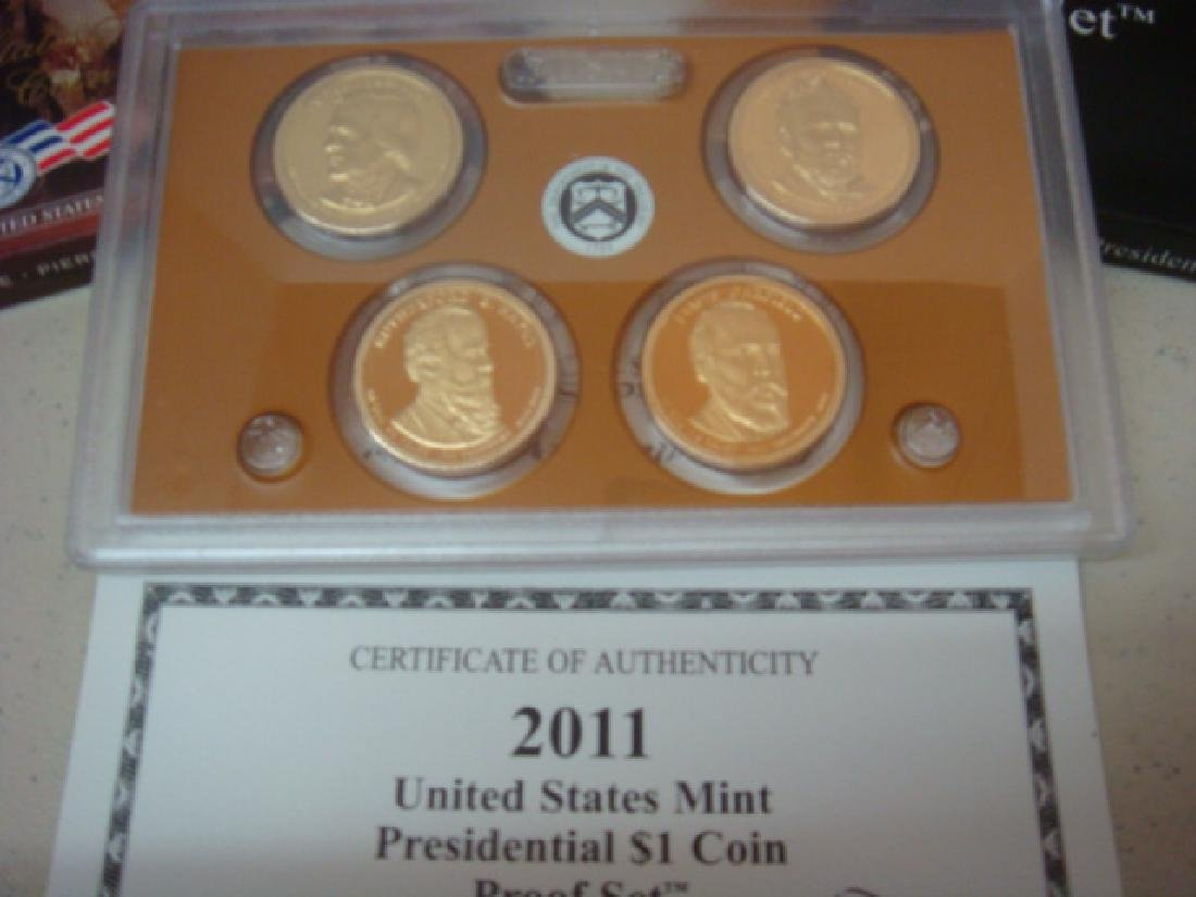 2007-2011 US MINT PRESIDENTIAL $1 COIN PROOF SETS (5): - 2