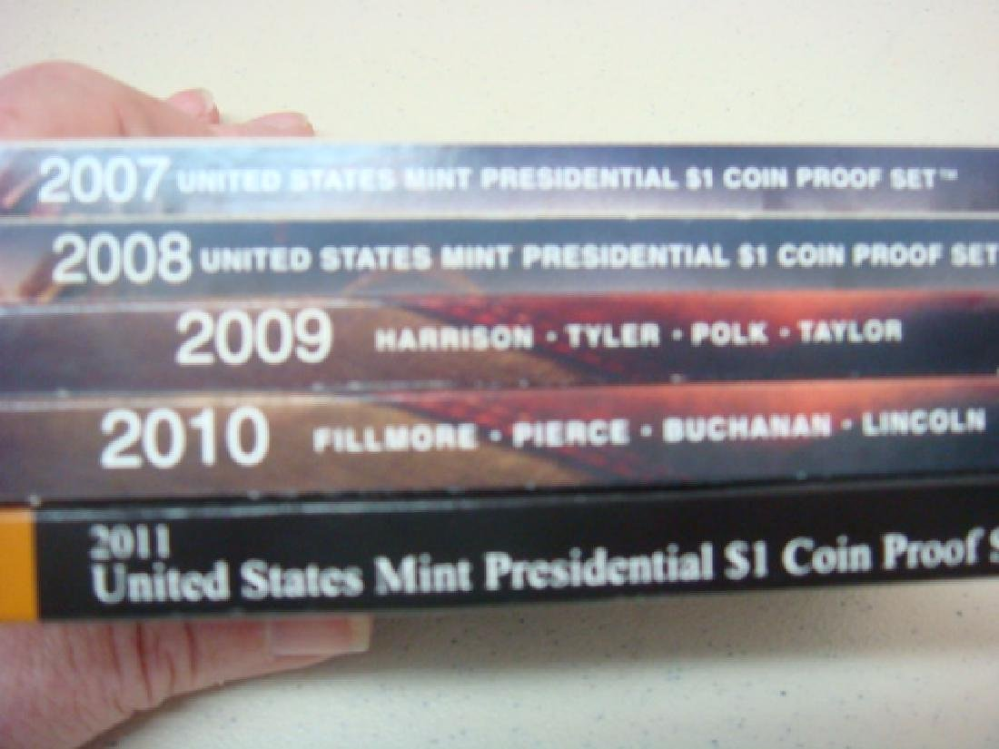 2007-2011 US MINT PRESIDENTIAL $1 COIN PROOF SETS (5): - 4