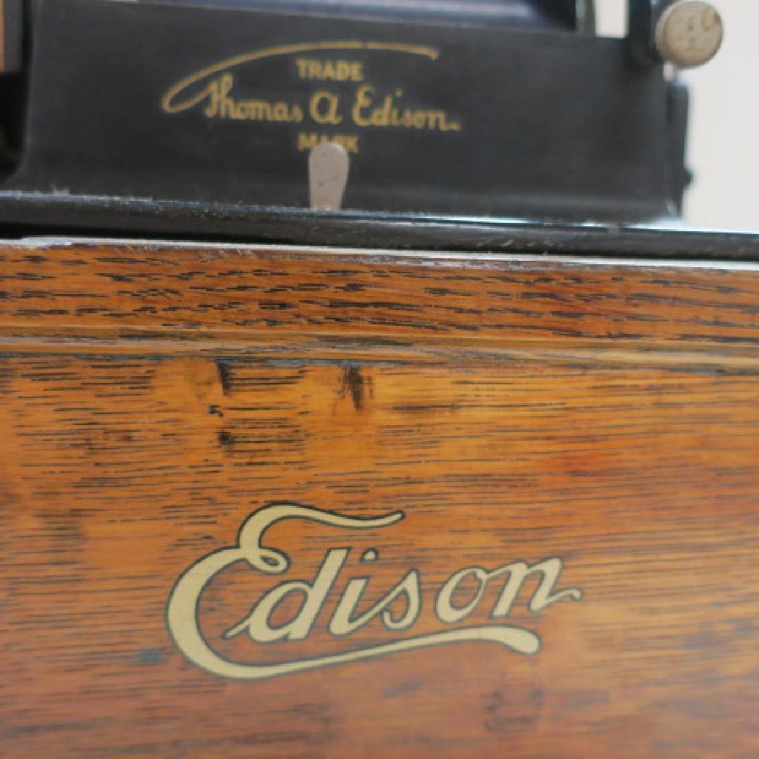 "EDISON FIRESIDE PHONOGRAPH Cylinder Player, 15"" Horn: - 2"