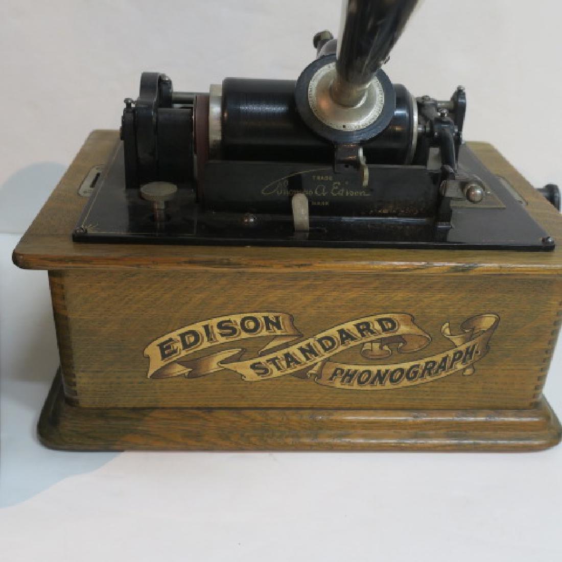 EDISON STANDARD PHONOGRAPH CYLINDER MACHINE CA1910 - 2