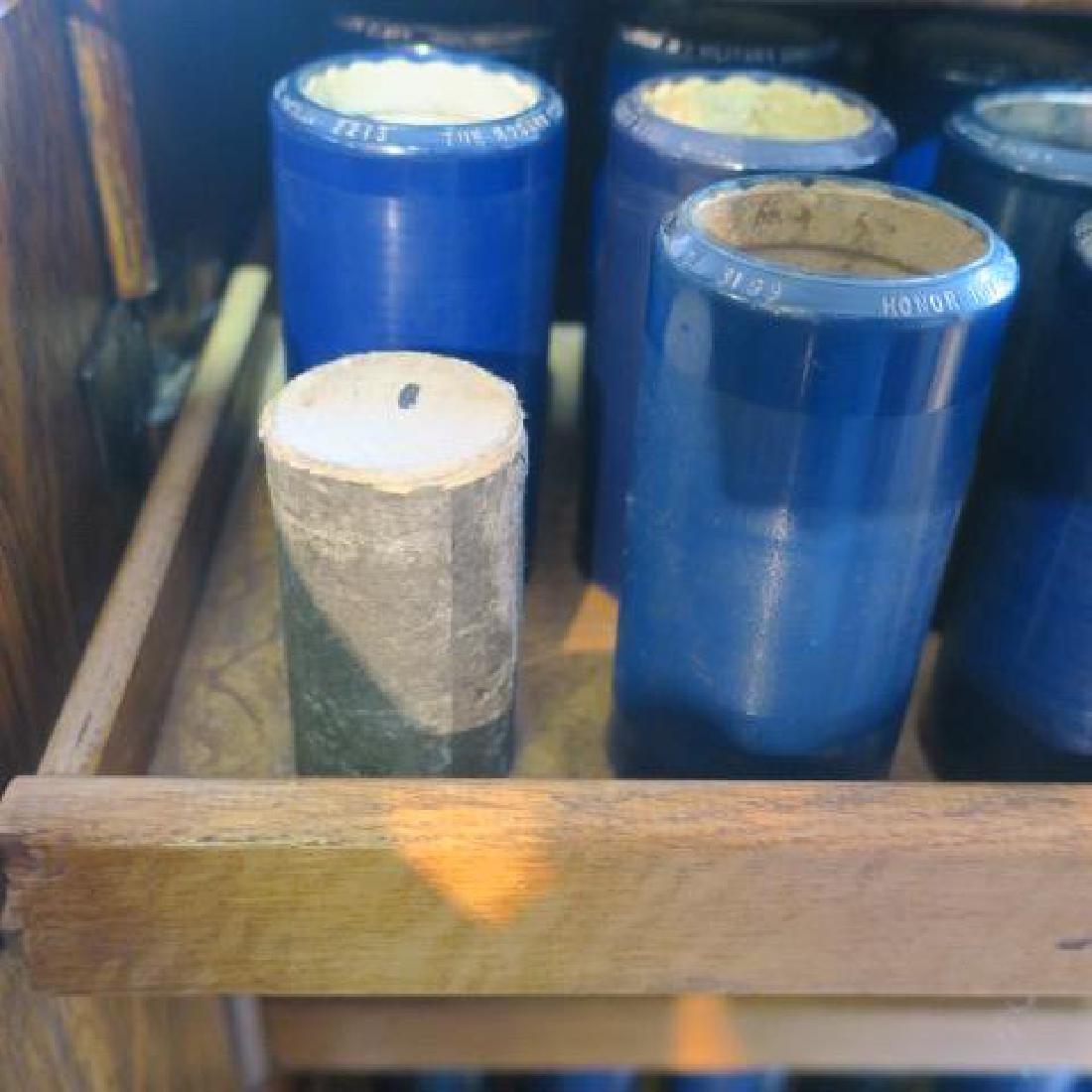 Tiger Oak Music Cabinet w/119 Edison Wax Cylinders: - 3