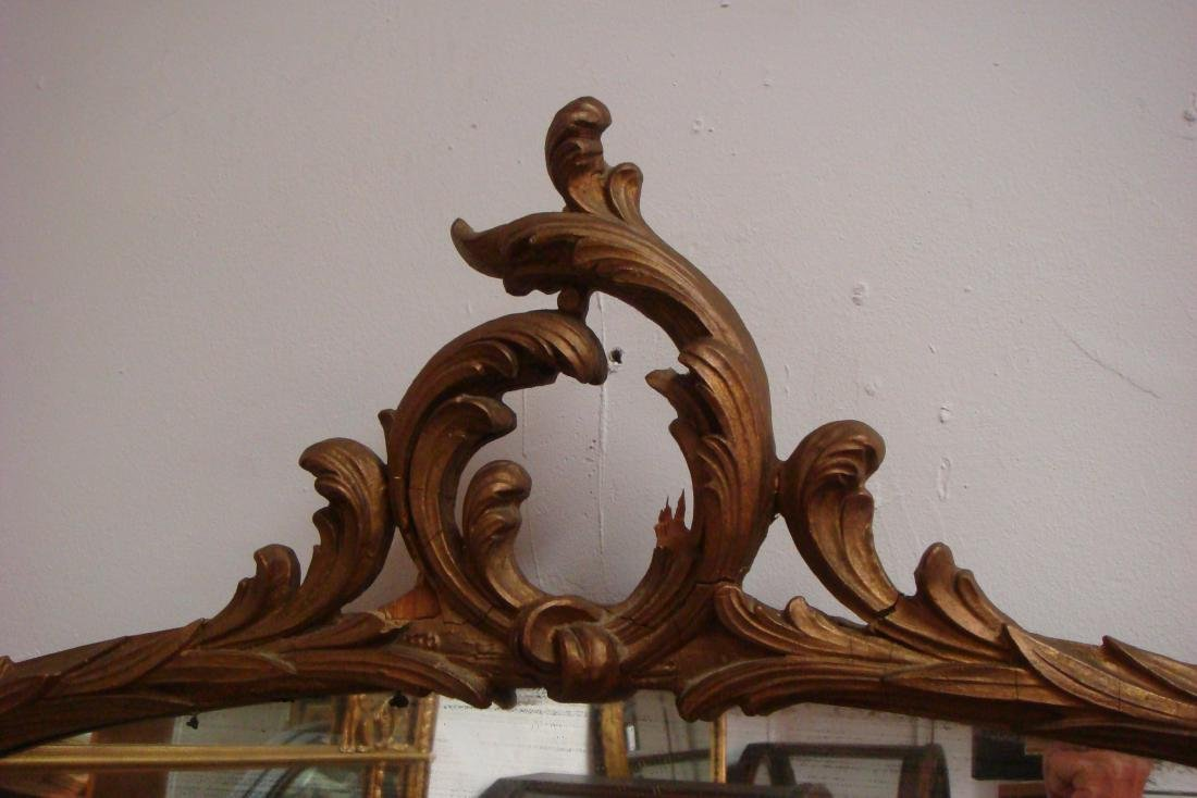 Shaped Arch Top Framed Decorative Wall Mirror: - 2