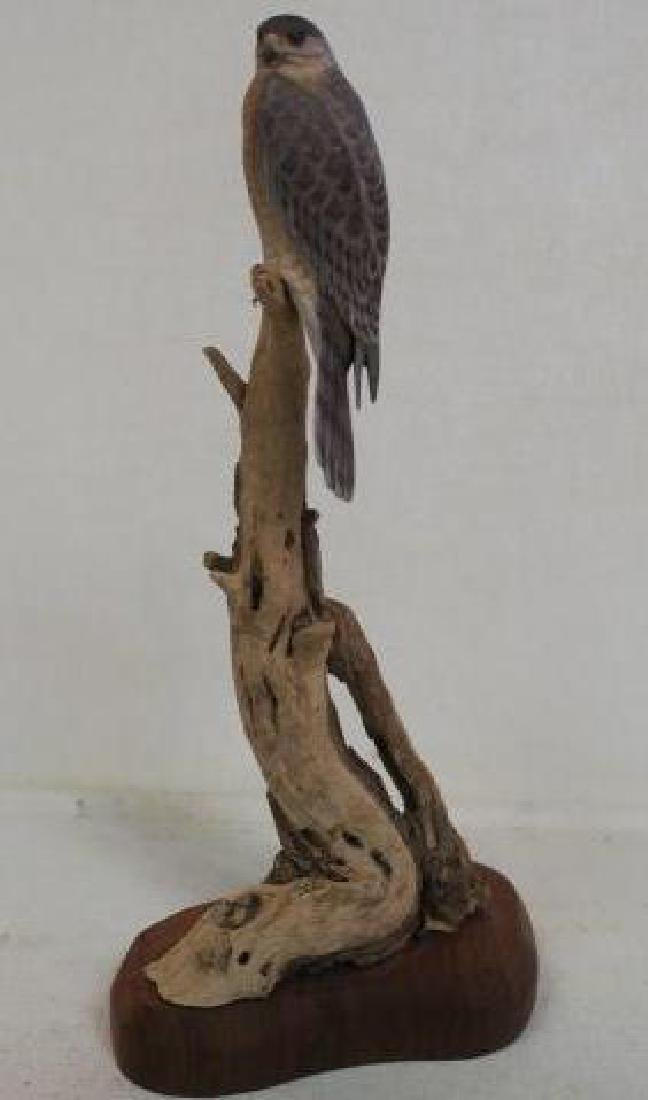 """Minutely Hand Carved """"Coopers Hawk"""" by Billy Crockett"""