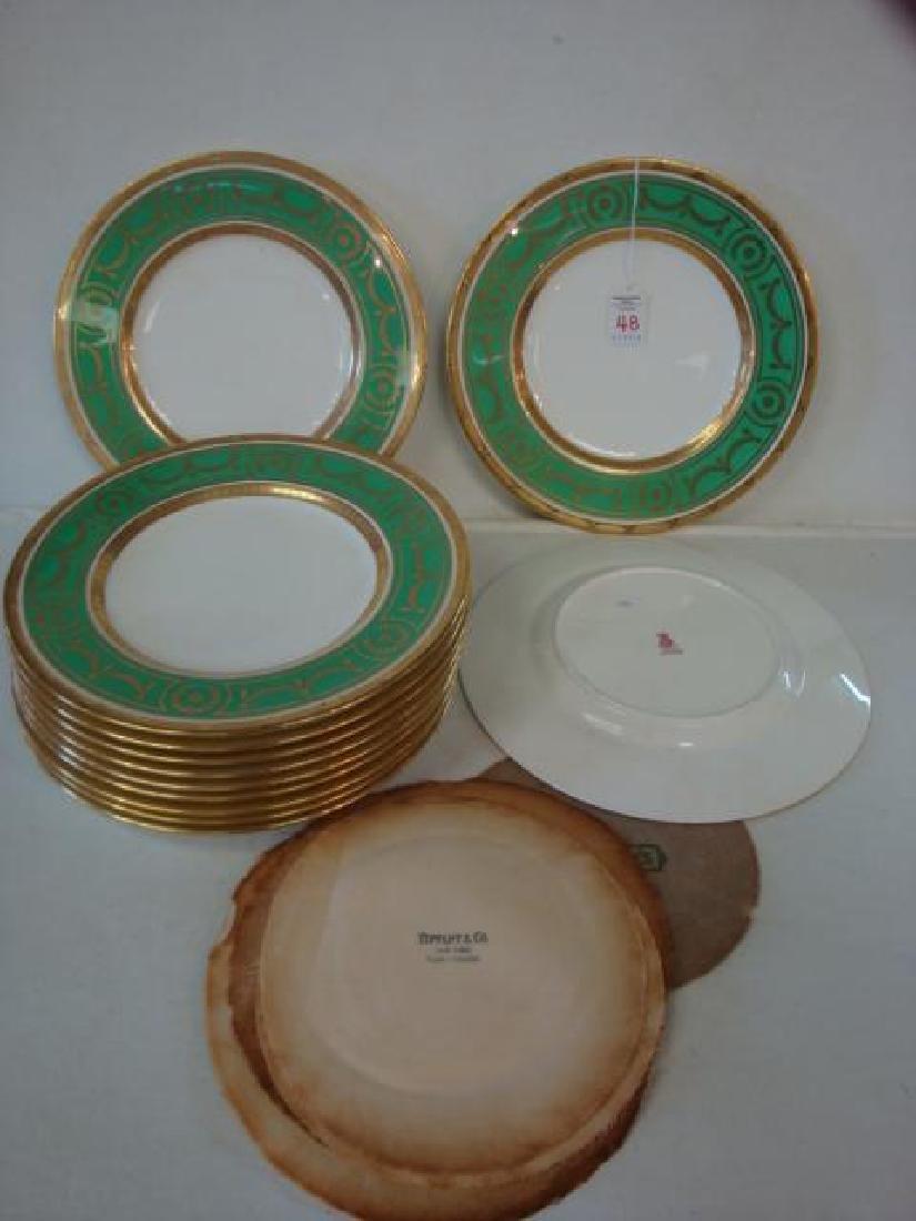 Twelve MINTONS for TIFFANY & CO. Dinner Plates: