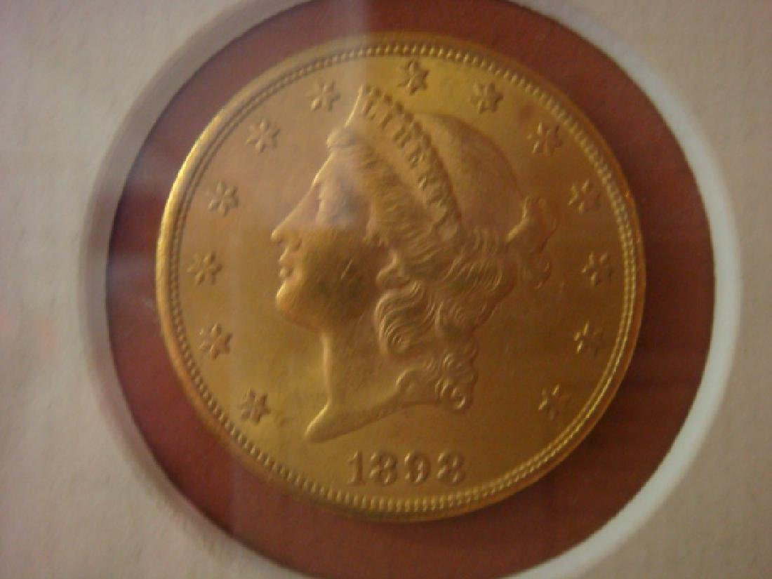 1898 3% UNITED STATES OF AMERICA BOND with GOLD COINS - 3