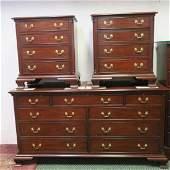 HENKEL HARRIS Four Pieces Mahogany Bedroom Furniture: