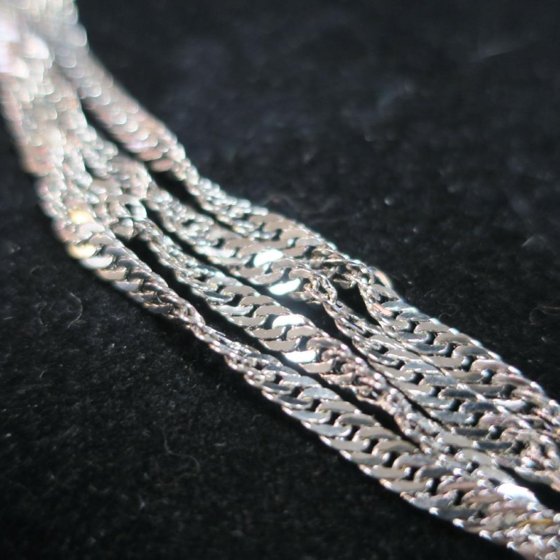 18KT White Gold Multi Strand Necklace: - 2