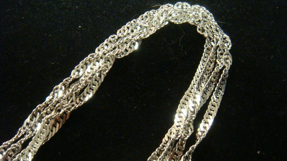 18KT White Gold Multi Strand Necklace: - 4