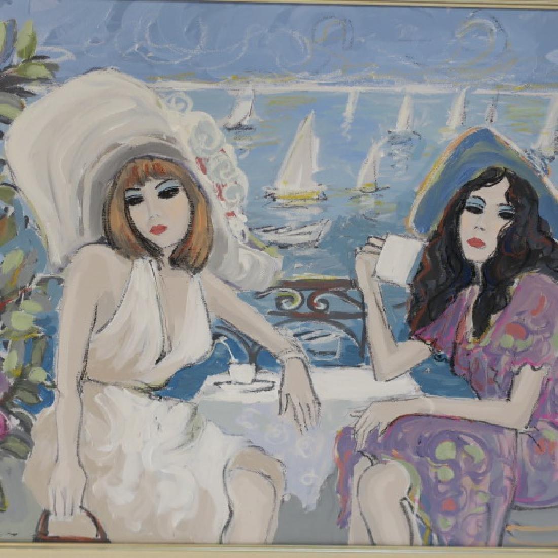 """ISAAC MAIMON Oil on Canvas """"Bonjour"""": - 2"""
