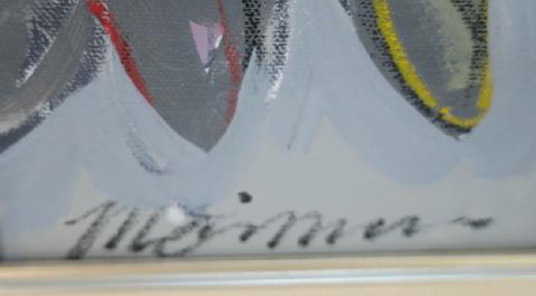 """ISAAC MAIMON Oil on Canvas """"Bonjour"""": - 3"""