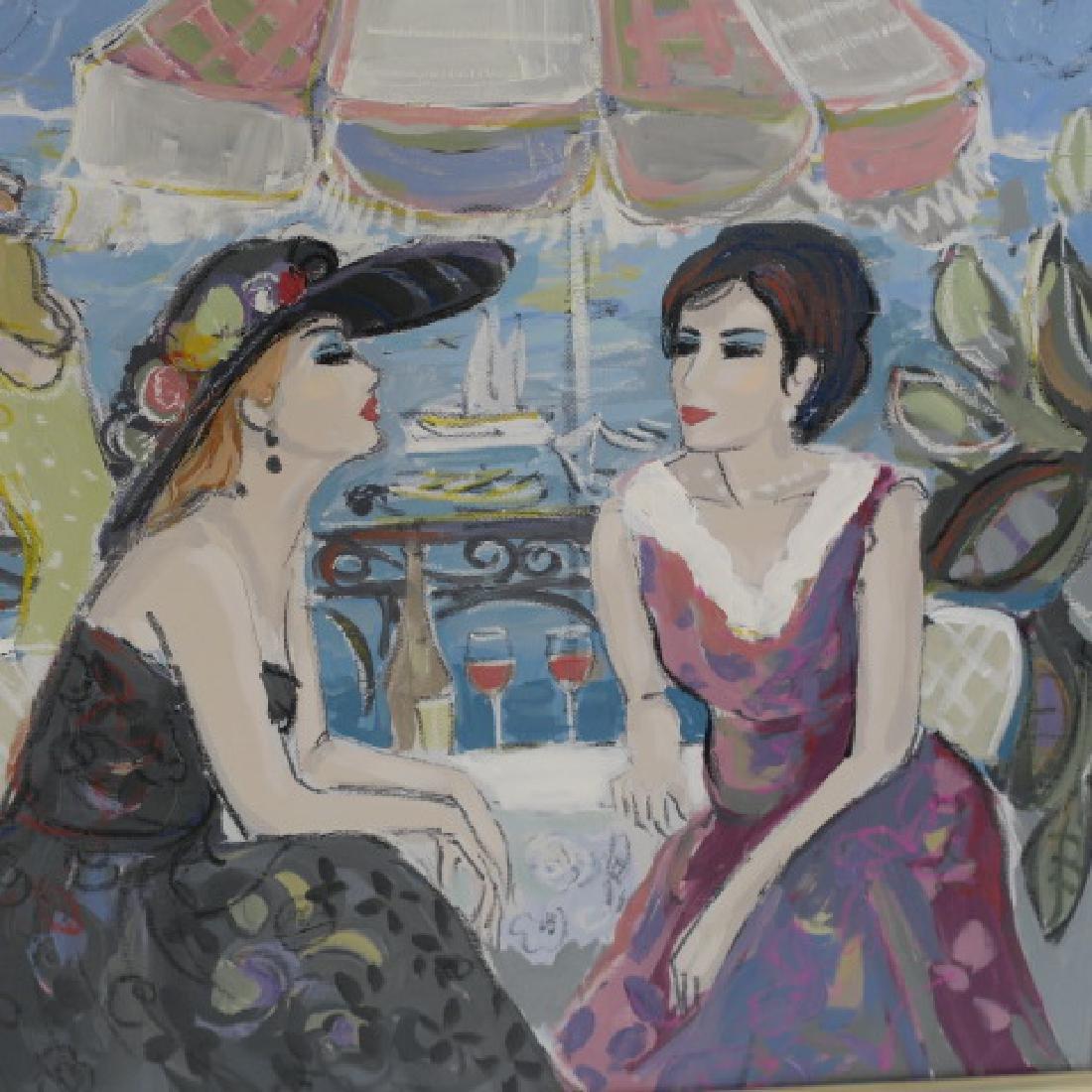 """ISAAC MAIMON Oil on Canvas """"Bonjour"""": - 4"""