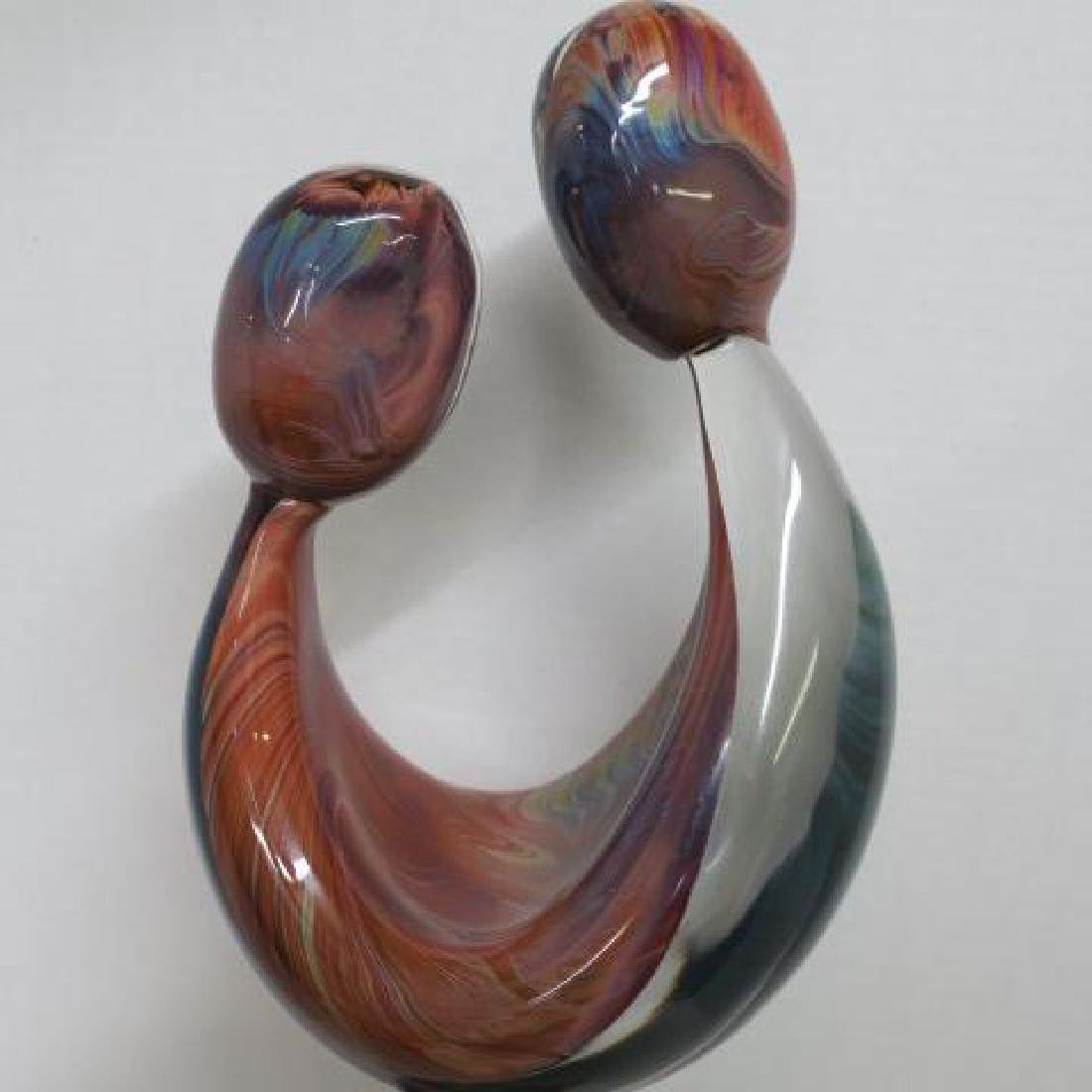 "DINO ROSIN Murano Glass ""Just Friends"" Sculpture: - 2"