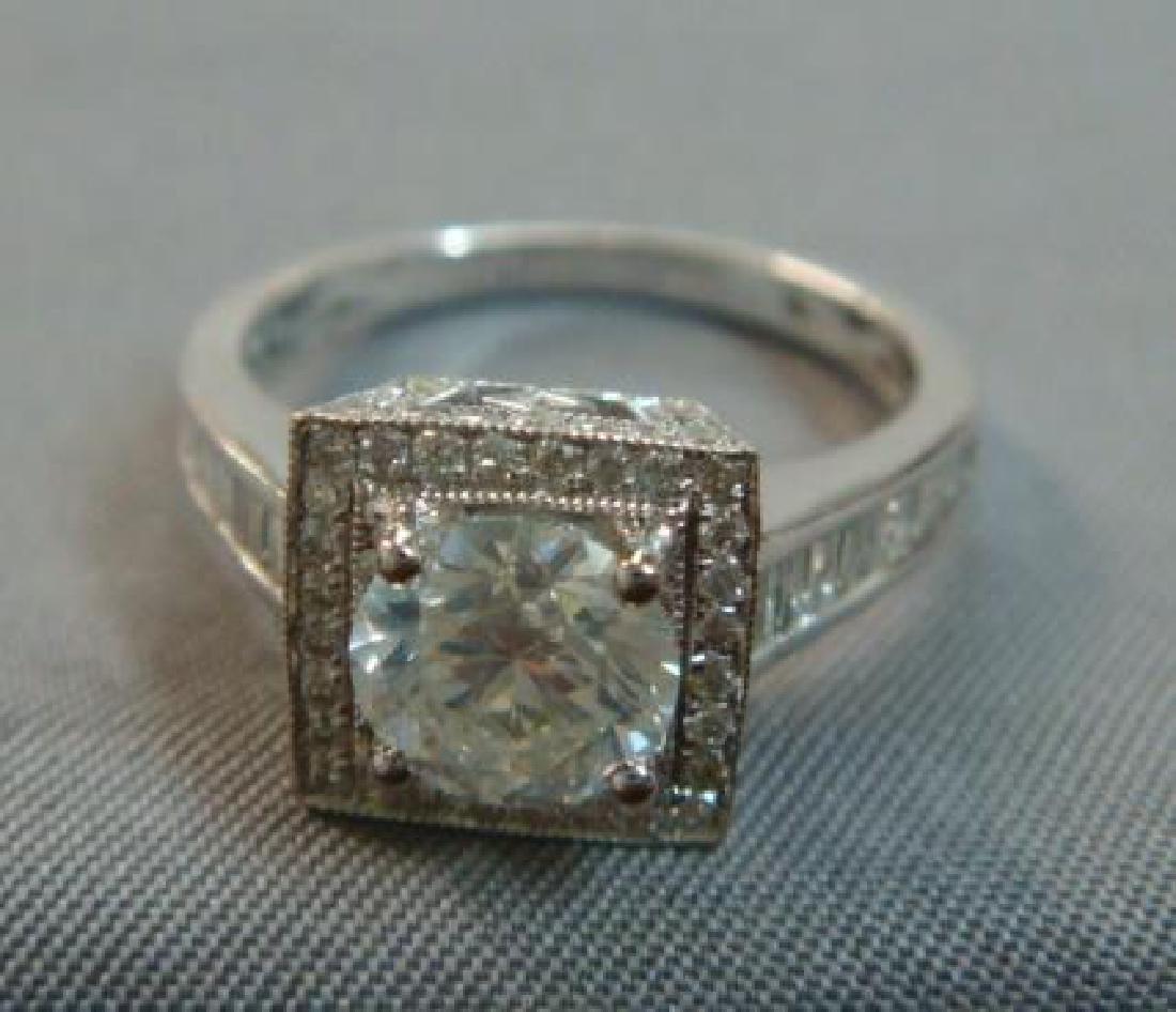 14KT White Gold Diamond Unity Ring: