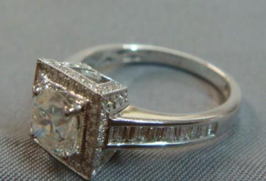 14KT White Gold Diamond Unity Ring: - 2