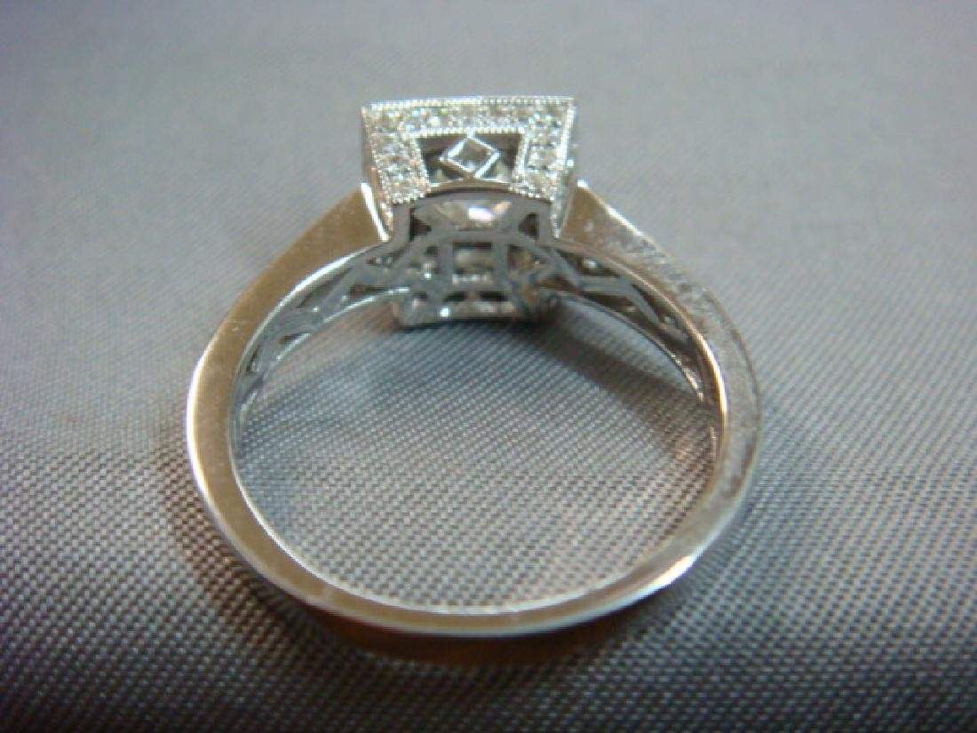 14KT White Gold Diamond Unity Ring: - 3
