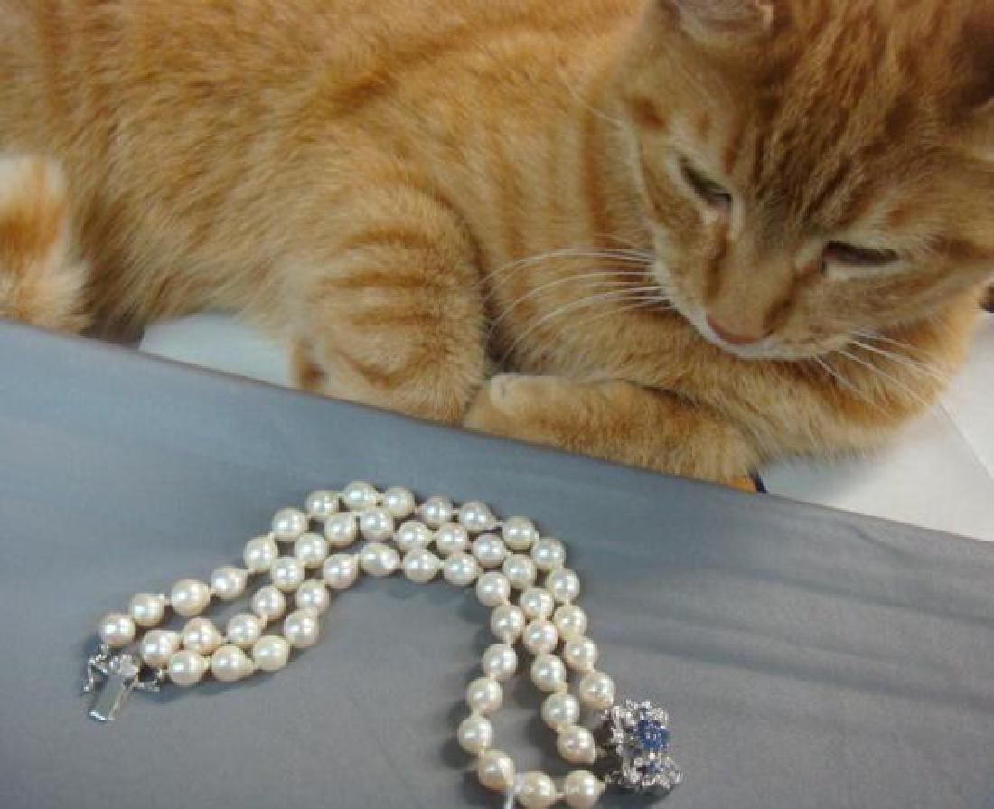 Triple Strand Freshwater Pearl Bracelet: