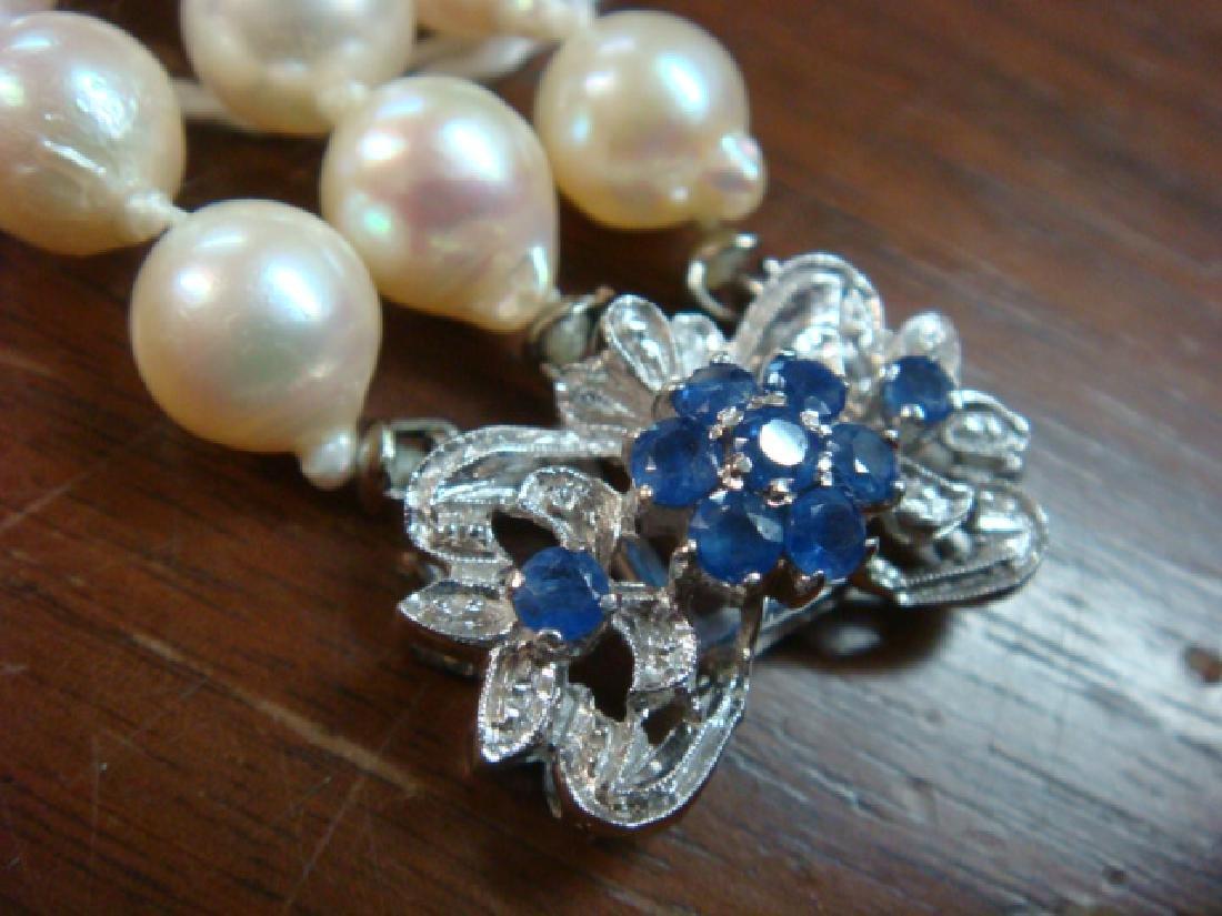 Triple Strand Freshwater Pearl Bracelet: - 3