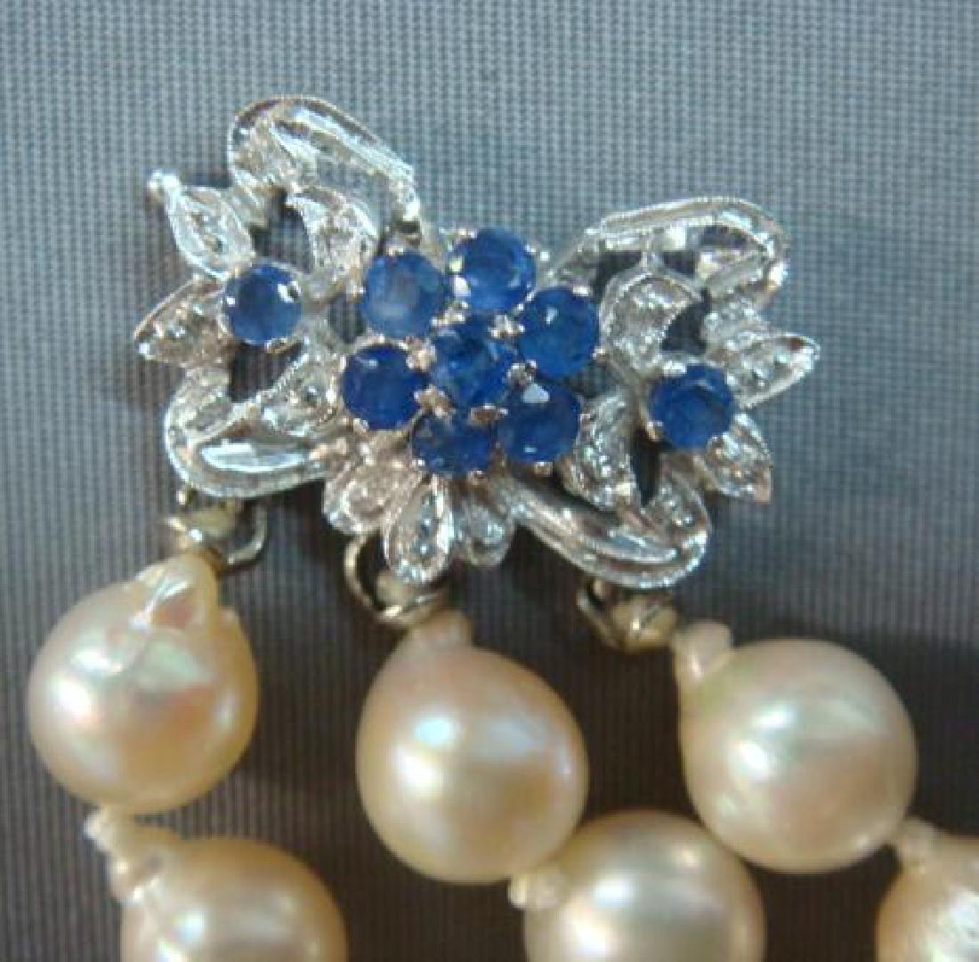 Triple Strand Freshwater Pearl Bracelet: - 4