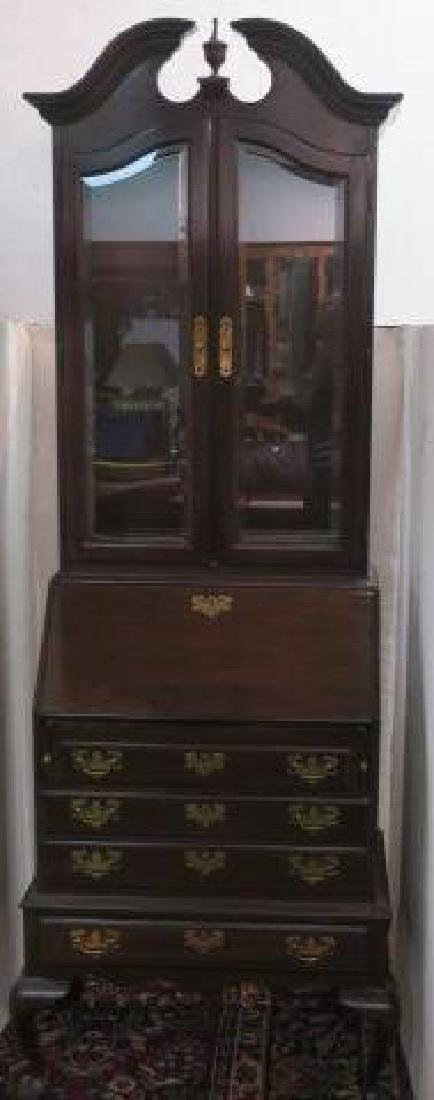 ETHAN ALLEN Mahogany Secretary/Bookcase