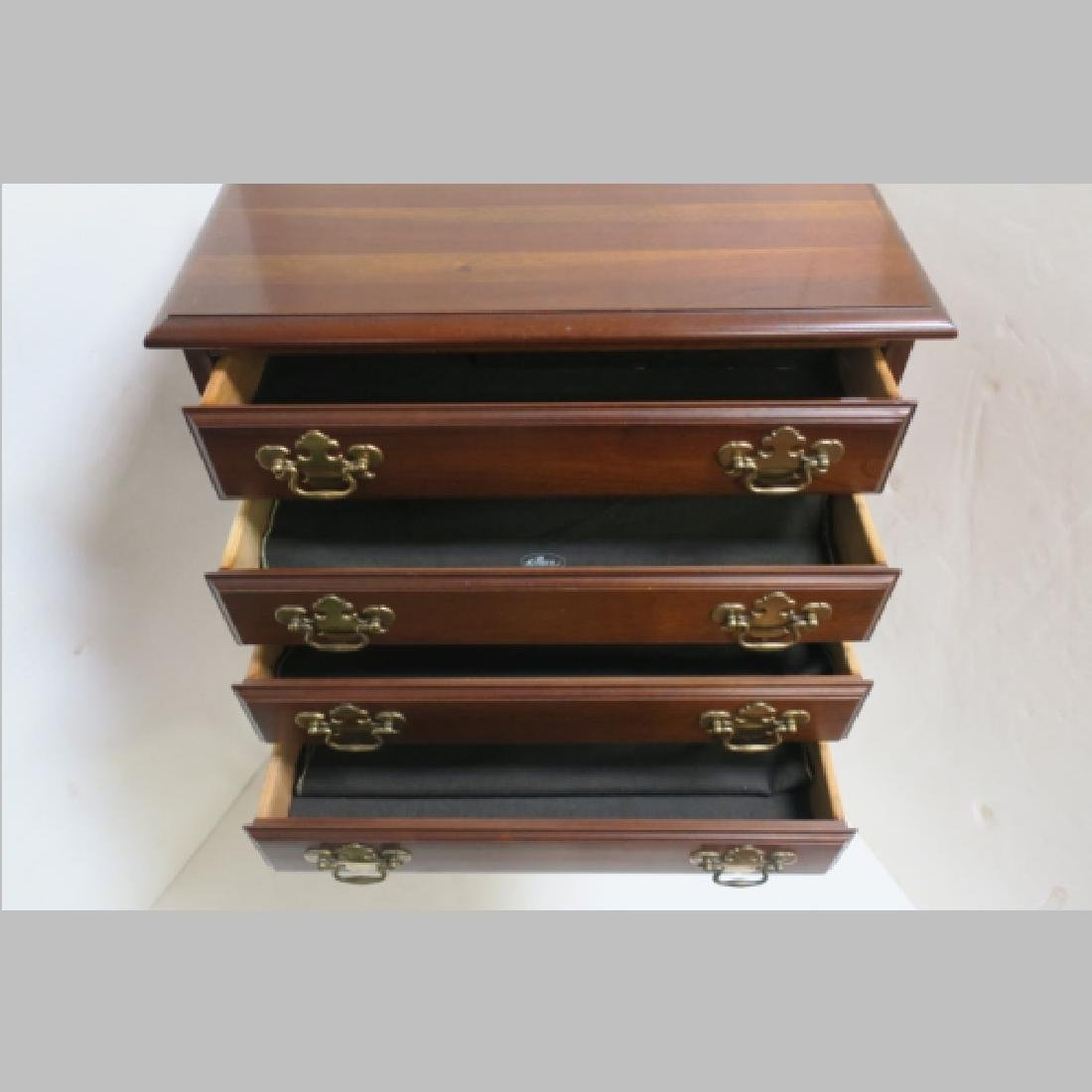 Queen Anne Style Four Drawer Silver Chest: - 4