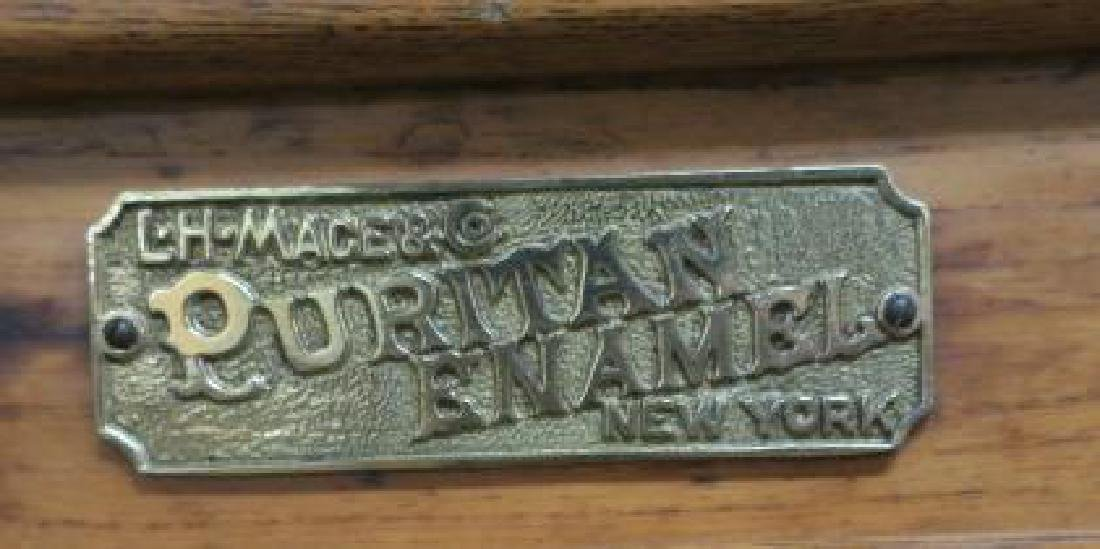 L H MACE Co. Puritan Oak Ice Box: - 2